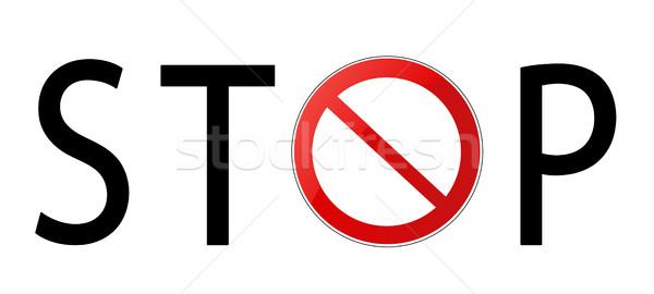 Dur işareti beyaz sokak arka plan hukuk karayolu Stok fotoğraf © nezezon