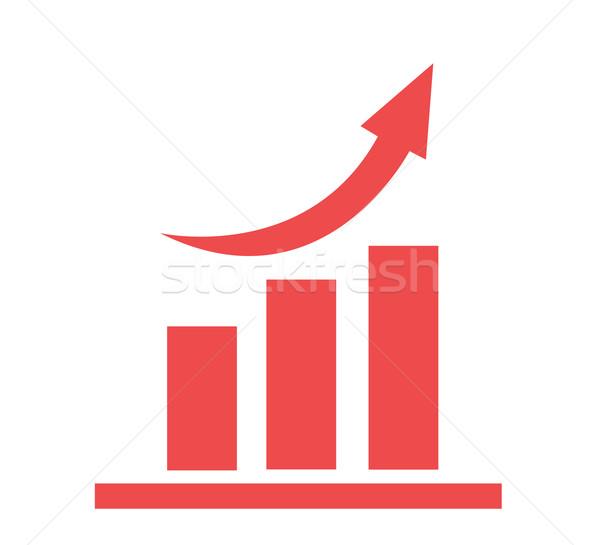 вектора растущий графа икона бизнеса веб Сток-фото © nezezon