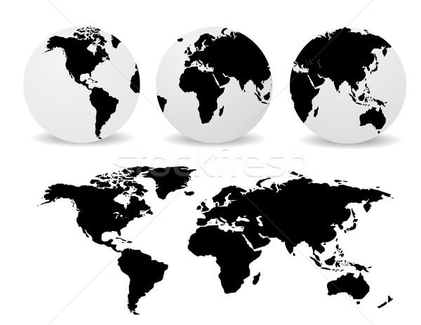Stockfoto: Abstract · globes · wereldkaart · internet · wereldbol · natuur
