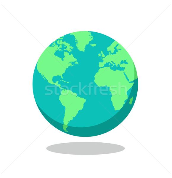 Mundo mundo vector mar tierra viaje Foto stock © nezezon