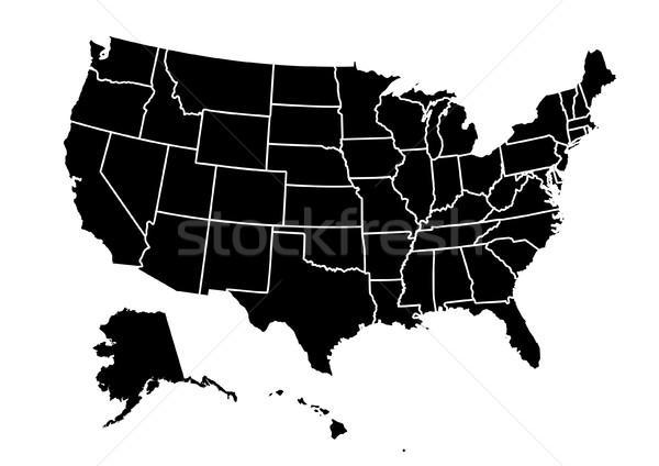 USA térkép világ szín Alabama Arizona Stock fotó © nezezon