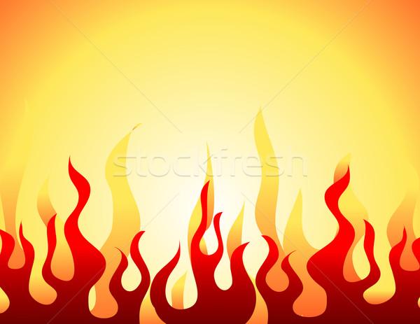 Red burning flame pattern. Vector. Stock photo © nezezon