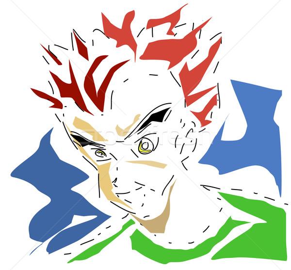 Manga garçon vecteur résumé design Homme Photo stock © nezezon
