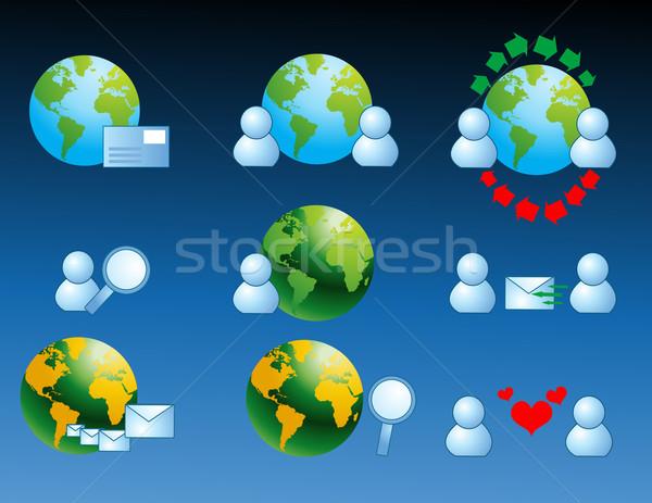 ウェブ インターネット アイコン コンピュータ 家族 愛 ストックフォト © nezezon