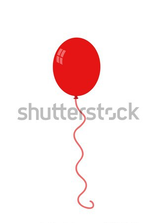 Balloon isolated icon on white background Stock photo © nezezon