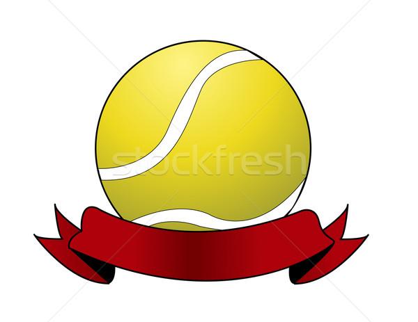 Sport tennisbal brand spelen Stockfoto © nezezon