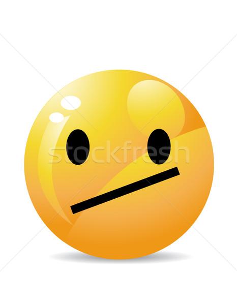 Emotikon arc fej gomb tép élvezet Stock fotó © nezezon