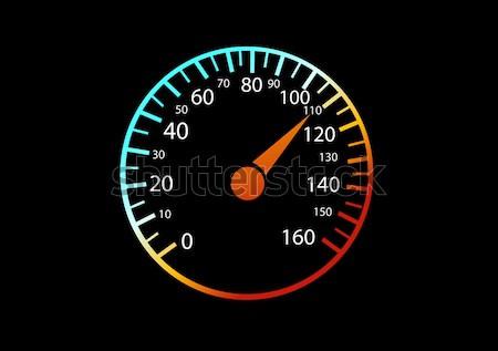 Samochodu czarny prędkości ruchu gazu narzędzi Zdjęcia stock © nezezon