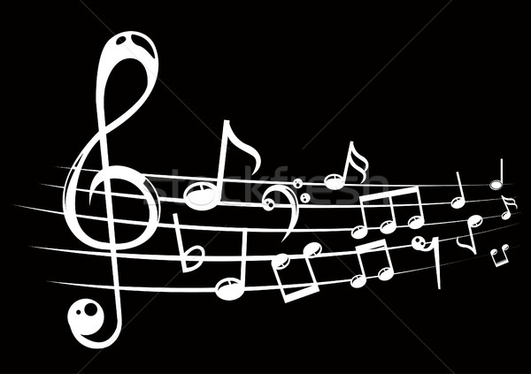 Notas musicales personal líneas signo concierto clave Foto stock © nezezon