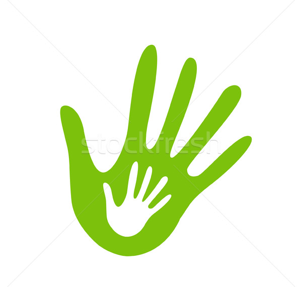 hand helping illustration Stock photo © nezezon