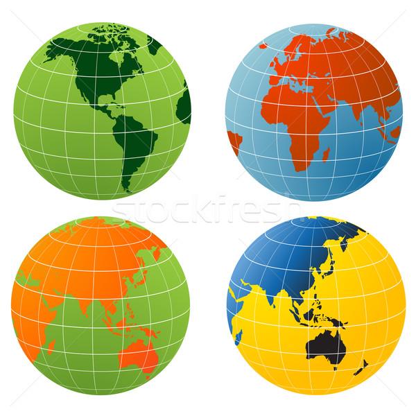 Mondo mondo terra palla pianeta terra Foto d'archivio © nezezon