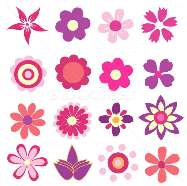colorful spring flowers vector illustration  Stock photo © nezezon