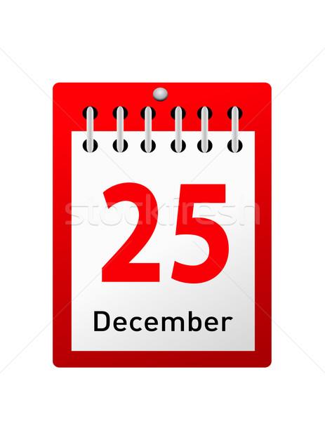christmas day calendar  Stock photo © nezezon