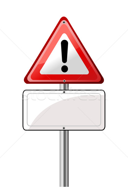 Exclamation road sign Stock photo © nezezon