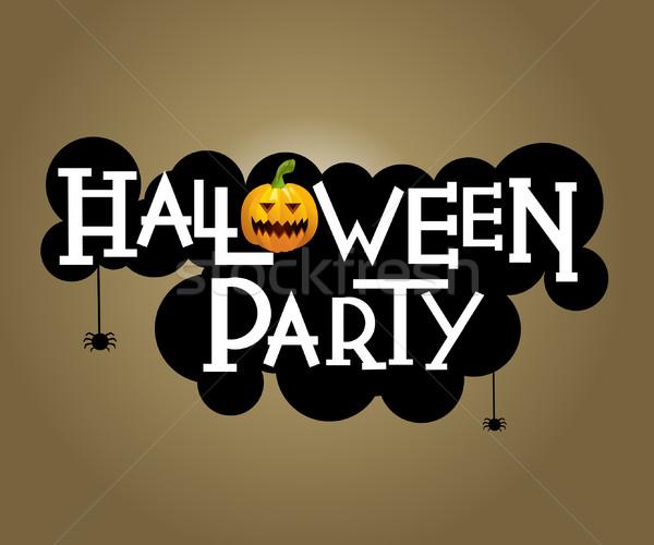 Halloween party text design Stock photo © nezezon
