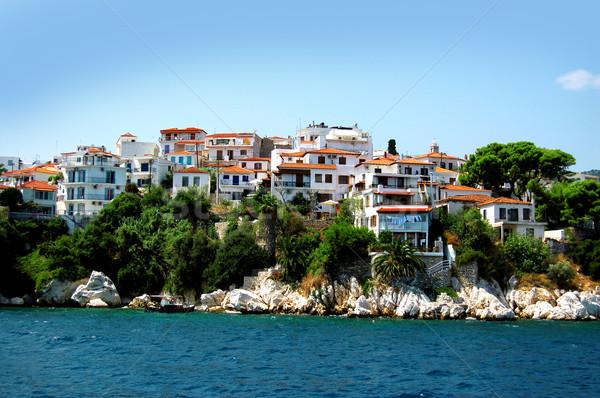 Estate giorno Grecia cielo acqua casa Foto d'archivio © nezezon