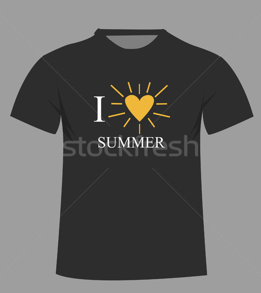T-shirt template. Front  Stock photo © nezezon