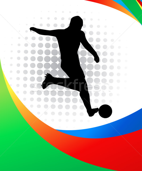Jogador de futebol futebol esportes bandeira equipe jogo Foto stock © nezezon