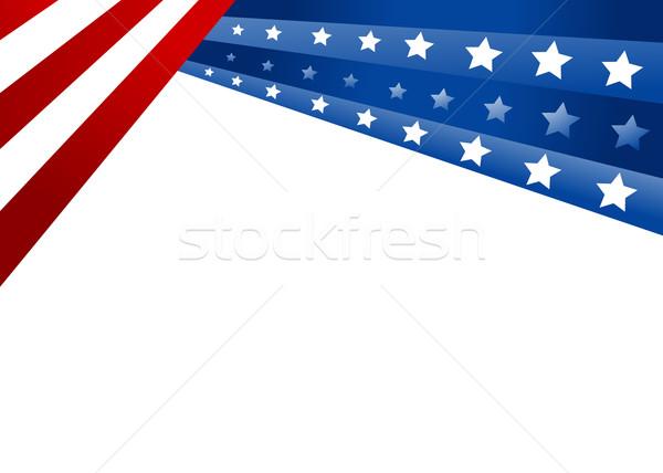 USA zászló stílus vektor háttér jókedv Stock fotó © nezezon