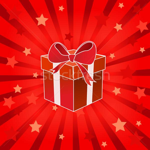 Natal apresentar caixa papel projeto fundo Foto stock © nezezon
