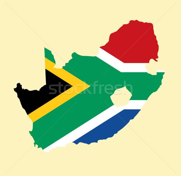 Foto stock: África · do · Sul · vetor · mapa · África · país · bandeira