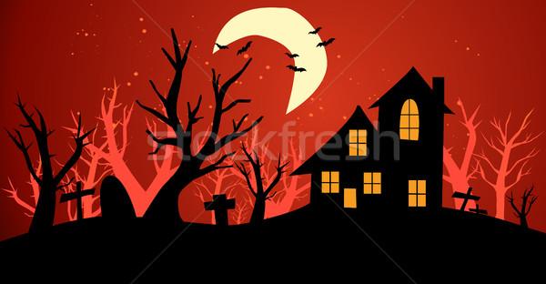 ハロウィン 自然 背景 木 芸術 黒 ストックフォト © nezezon