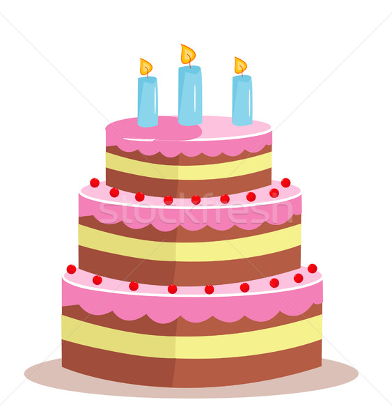 Sweet cake for birthday holiday Stock photo © nezezon