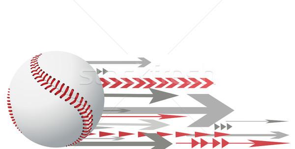 Baseball sport bal spel bat atleet Stockfoto © nezezon