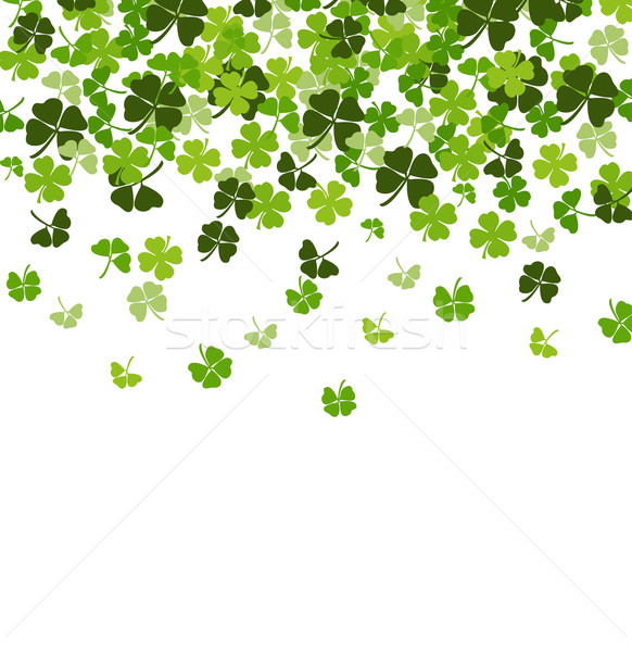St. Patrick's day vector background with shamrock Stock photo © nezezon