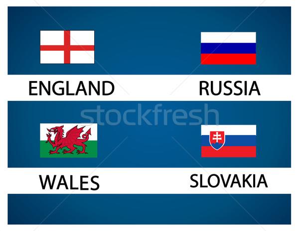 European soccer cup - group B Stock photo © nezezon