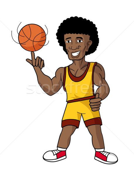 cartoon basketball player Stock photo © nezezon