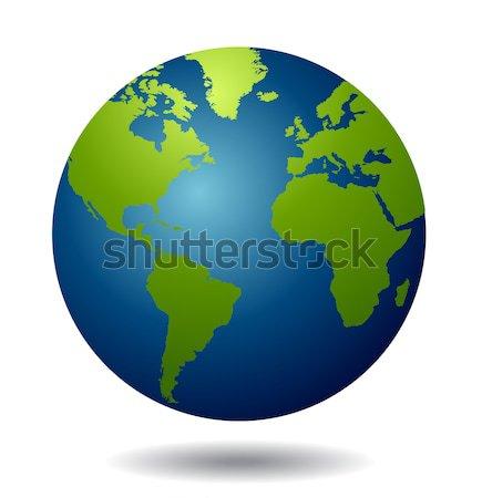 Mondo mondo vettore mare terra viaggio Foto d'archivio © nezezon