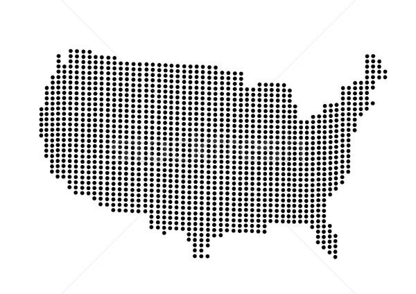 USA mappa mondo colore america illustrazione Foto d'archivio © nezezon
