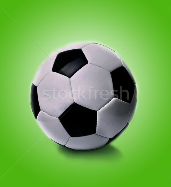 black and white soccer ball  Stock photo © nezezon