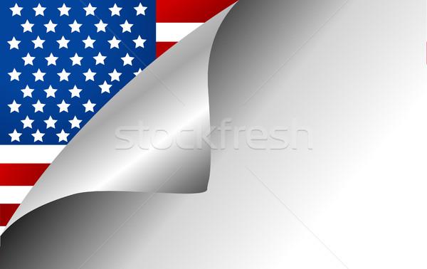 USA Country Flag Turning Page Stock photo © nezezon