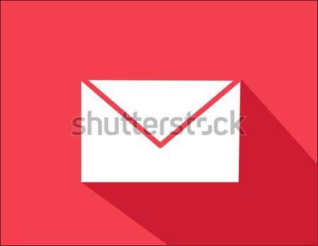Envelop kantoor vrienden web communicatie lezen Stockfoto © nezezon