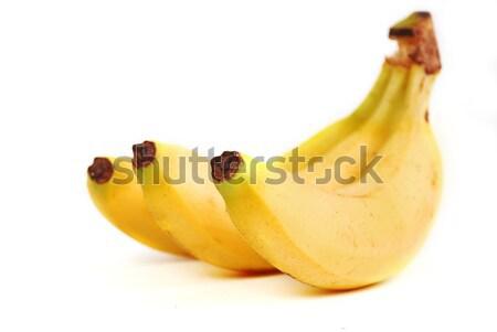 Ripe banana on white background Stock photo © nezezon