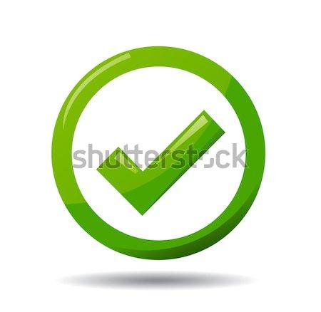Green Check Mark Symbol Vector Illustration Edmond Mihai Vertes