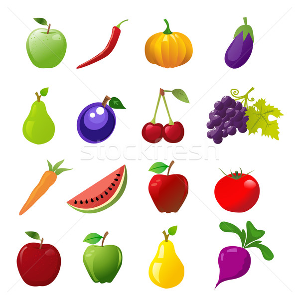food icons Stock photo © nezezon