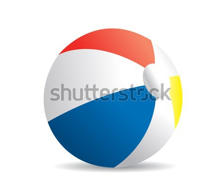 Illustration of a beach ball on a white background  Stock photo © nezezon