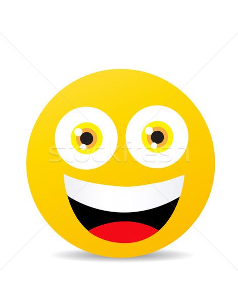 Moderno amarelo risonho feliz sorrir cara Foto stock © nezezon