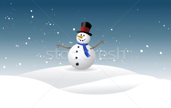 Pupazzo di neve sorriso felice natura design arte Foto d'archivio © nezezon
