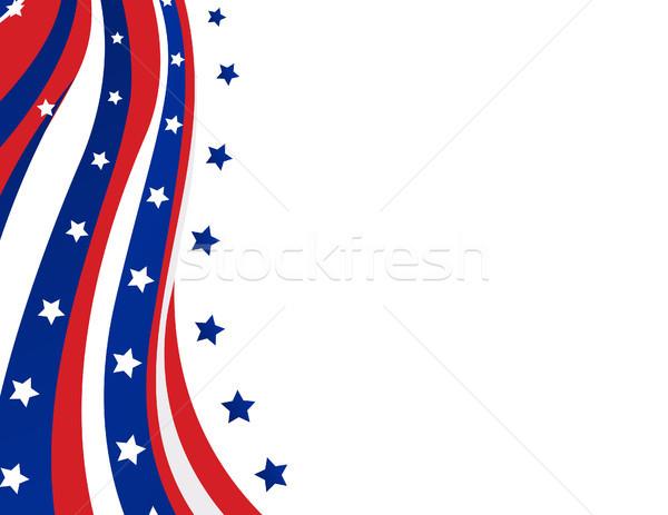 USA zászló stílus vektor jókedv csillag Stock fotó © nezezon