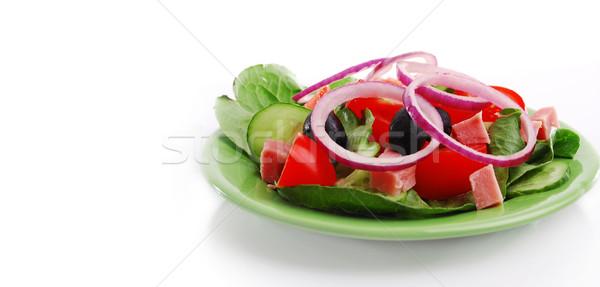 Verdure fresche alimentare salute tavola olio Foto d'archivio © nezezon