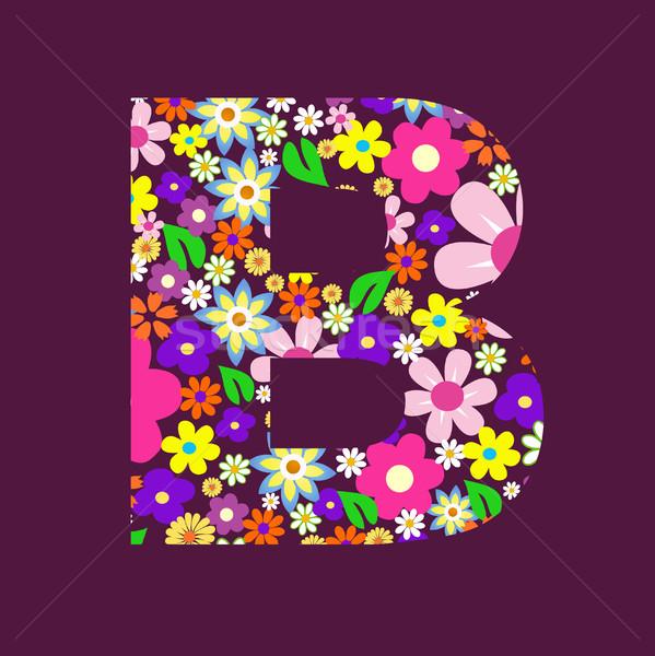 Carta belo flores flor borboleta projeto Foto stock © nezezon