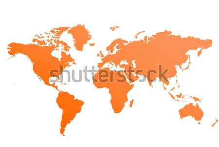 World map vector Stock photo © nezezon