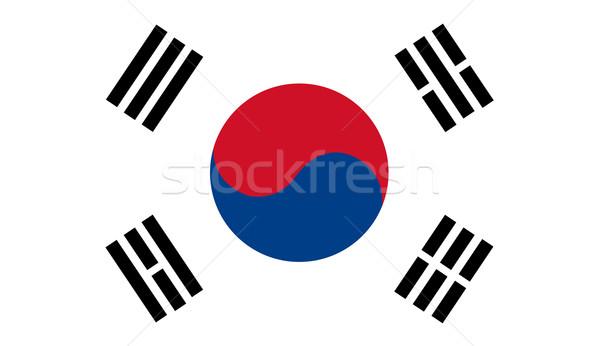 South Korea flag vector Stock photo © nezezon