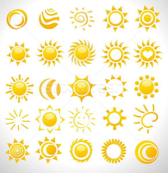 set of vector suns Stock photo © nezezon
