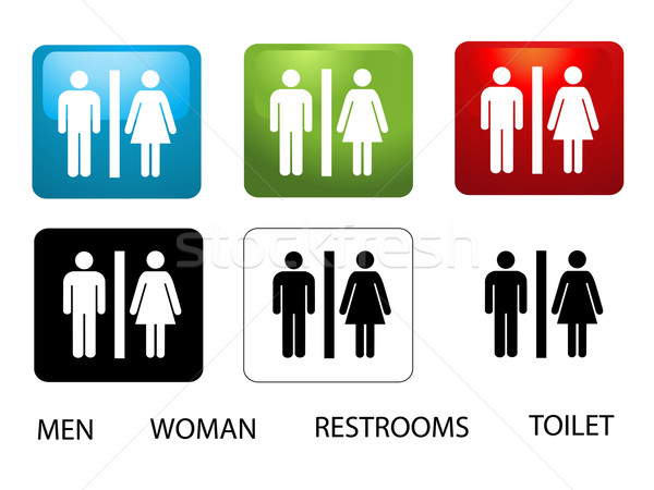 Women's and Men's Toilets Stock photo © nezezon