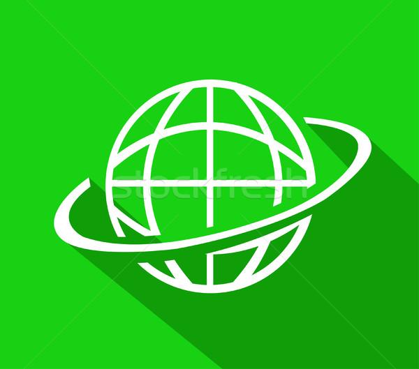 world globe vector Stock photo © nezezon